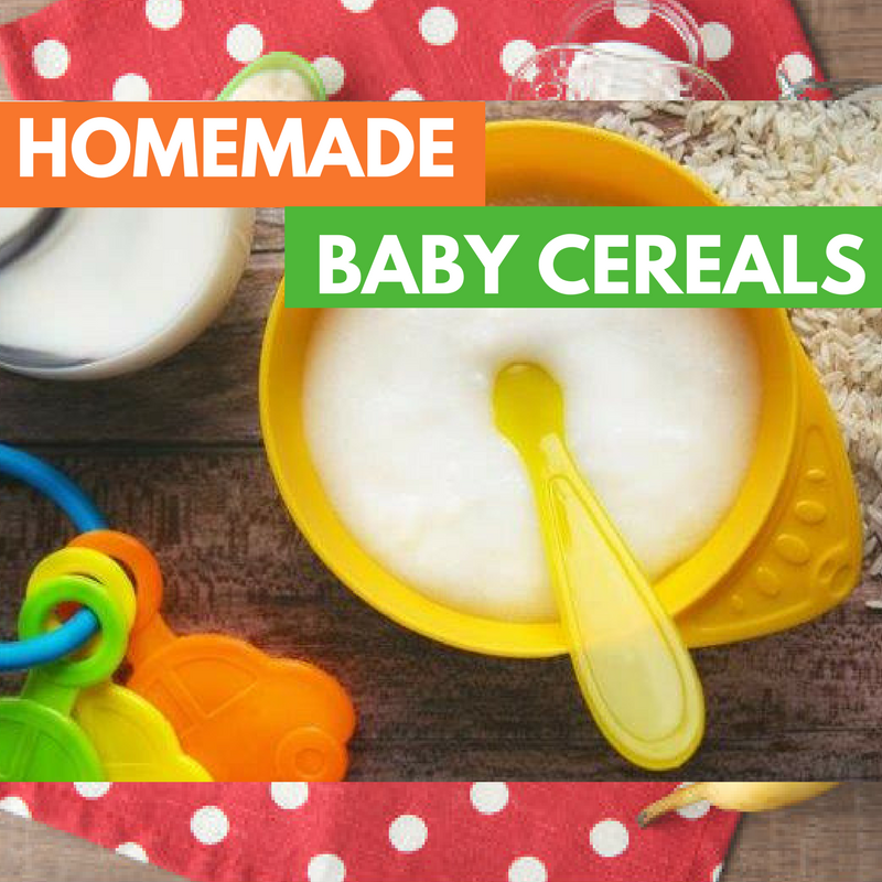 Homemade Baby Cereals