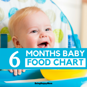 Indian food chart for 6 months baby