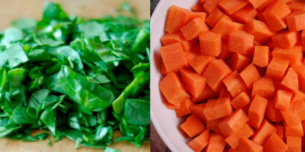 carrots & spinach soup for babies