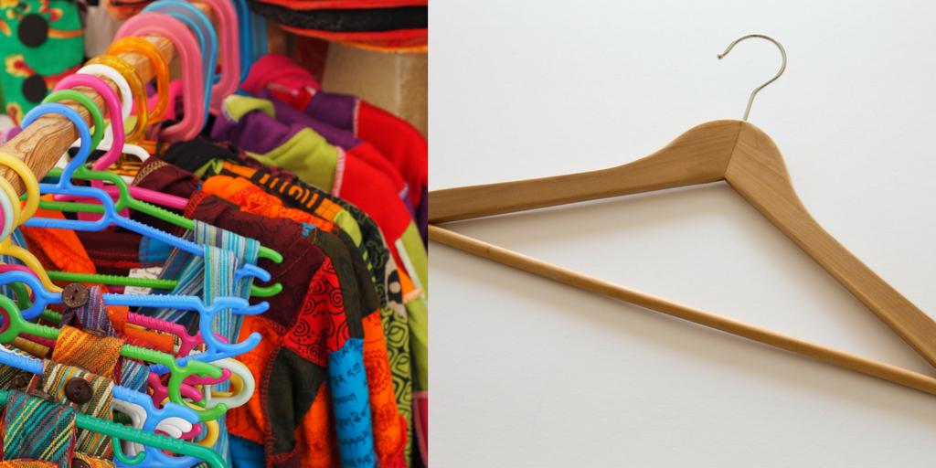 Travel hack - cloth hangers