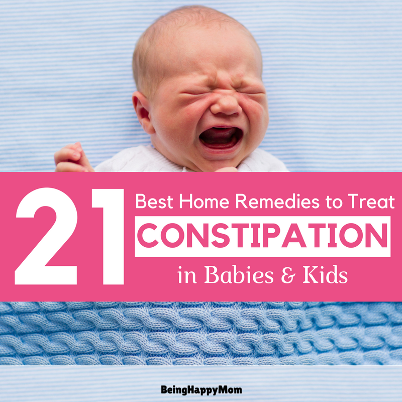 21 Best & Proven Home Remedies For Constipation In Babies and Kids
