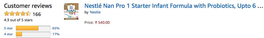 Amazon Review - NAN PRO