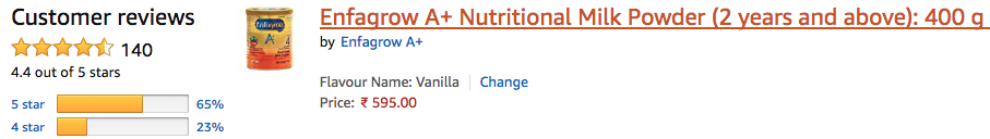 Enfagrow A+ Nutritional Milk - Amazon Review