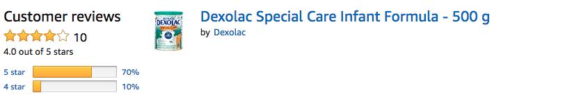 Dexolac Special Care Infant Formula - Amazon Review