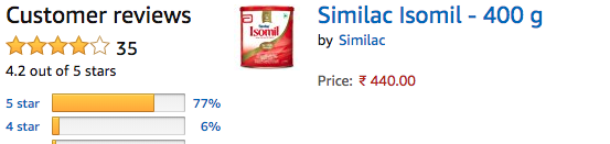 Similac Isomil - Amazon Review