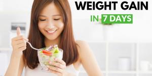 7 days weight gain diet