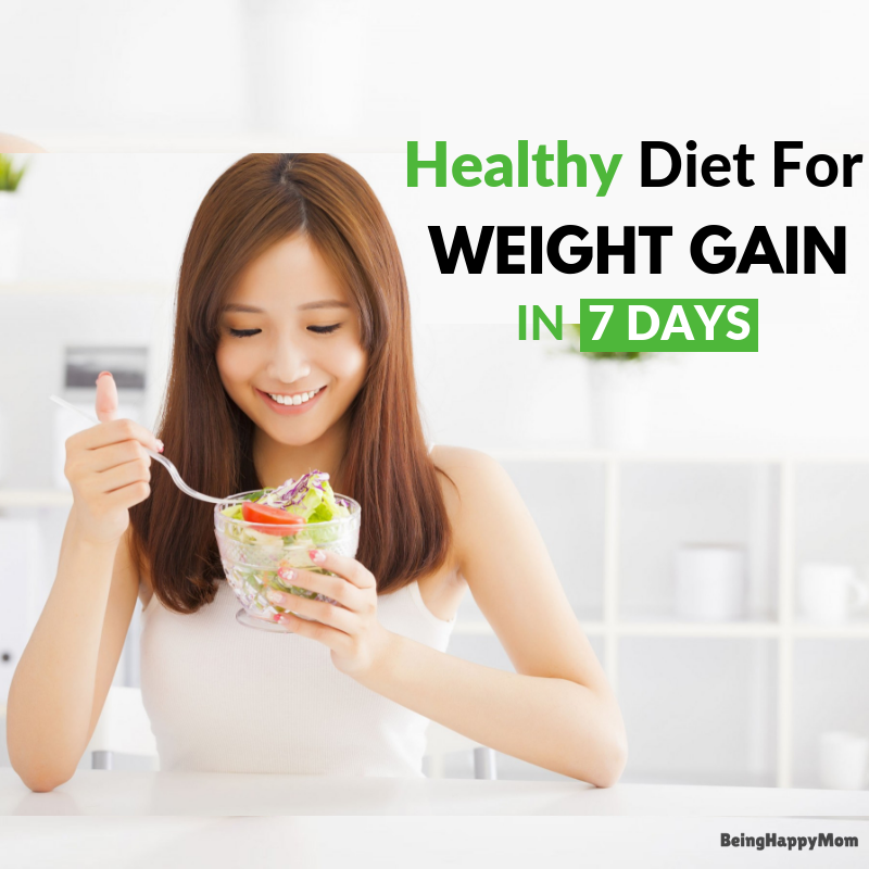 7 days weight gain diet