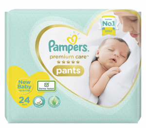 Pampers Premium Care Pants, New Born, Extra Small size baby diapers