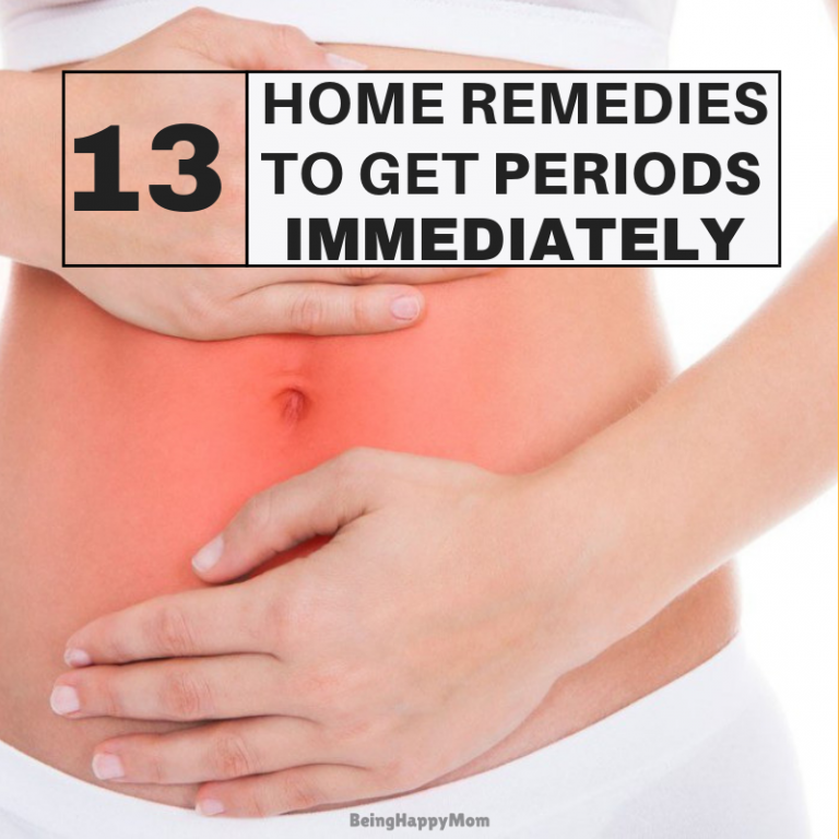 home remedies to get periods fast