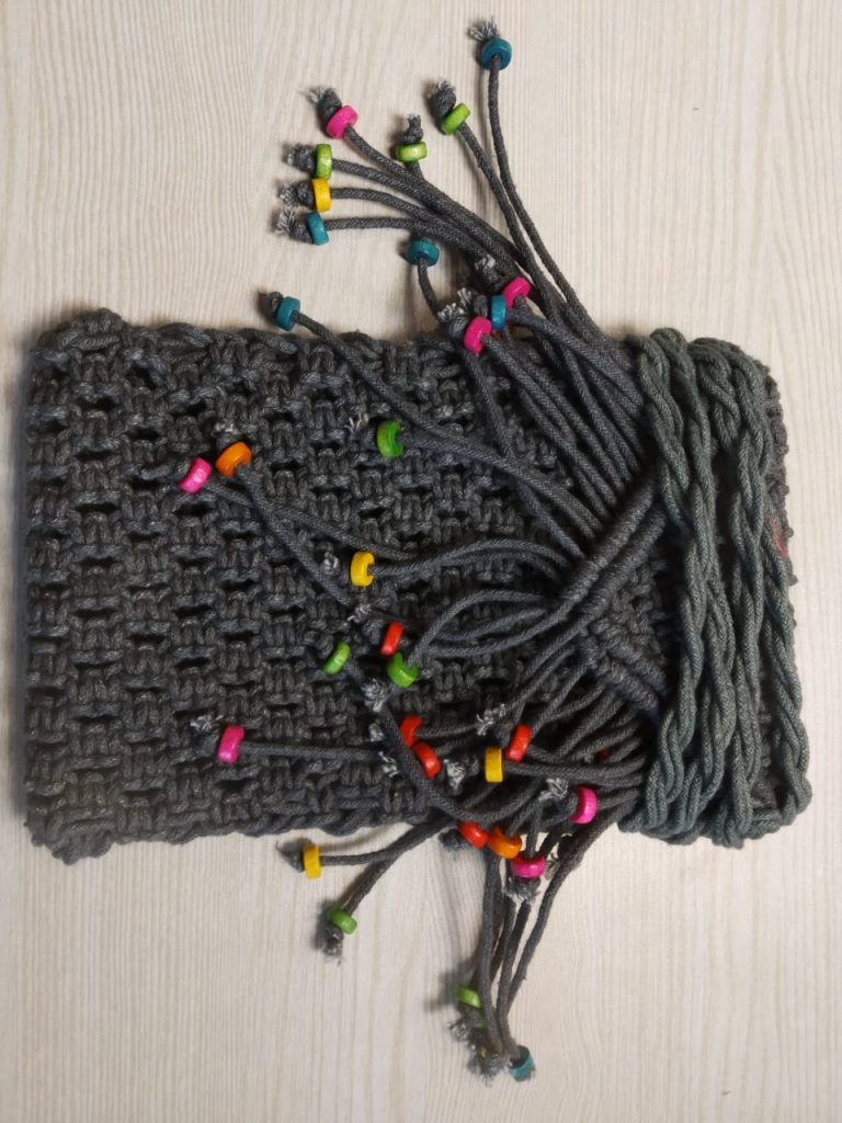 grey mobile pouch