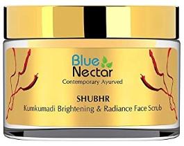 Blue Nectar Ayurvedic Kumkumadi Brightening Face Scrub