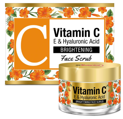 StBotanica Vitamin C, E & Hyaluronic Acid Brightening Face Scrub